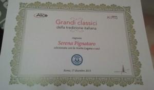 """Premiazione contest """"posta la ricetta£ di Alice e poste italiane"""