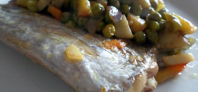 Trancio di Pesce spatola con verdure saltate