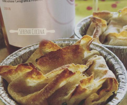 Tortini pane carasau zucchine e alici