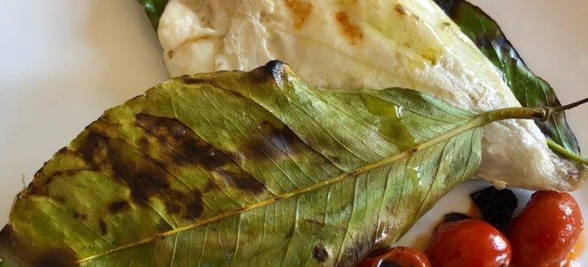 Filetto di orata in foglie di limone